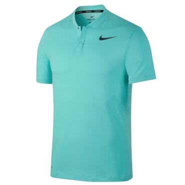 Nike Gents Aero React Slim Polo Shirt Aqua