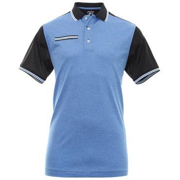 FootJoy Gents Stretch Pique Block Polo Shirt Black - Blue - White