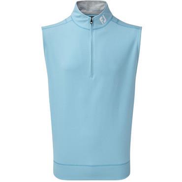 FootJoy Gents Spun Poly 1/2 Zip Vest Light Blue