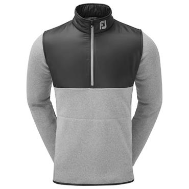 FootJoy Gents Chillout Xtreme Fleece Pullover Light Grey - Charcoal