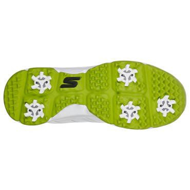 Skechers Junior Boys Blaster Shoes White - Lime