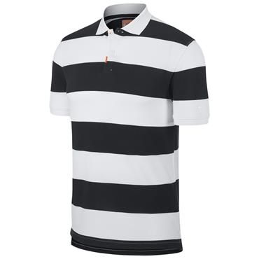 Nike Gents Slim Fit Striped Polo Black