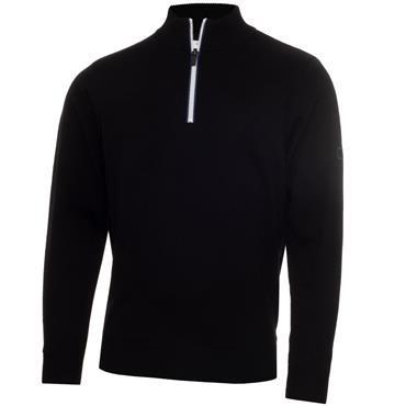 Calvin Klein Golf Gents 1/2 Zip Lined Sweater Black
