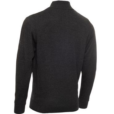 Calvin Klein Golf Gents 1/2 Zip Lined Sweater Charcoal Melange