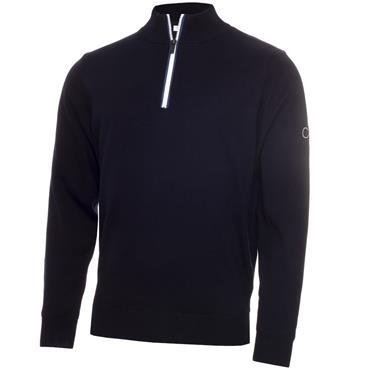 Calvin Klein Golf Gents 1/2 Zip Lined Sweater Navy