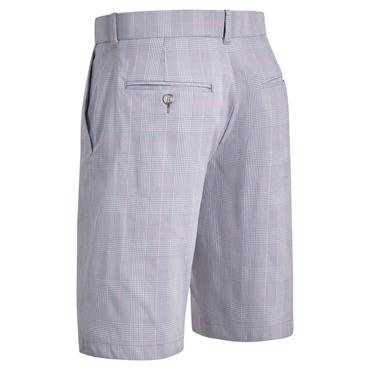 Callaway Gents FF Glen Plaid Shorts Grey