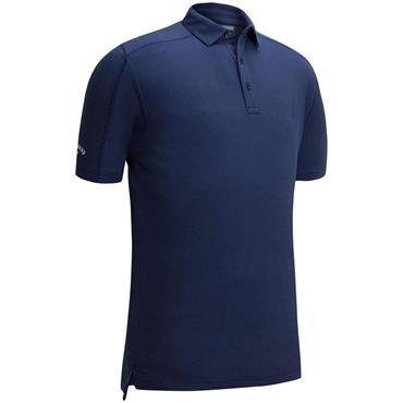 Callaway Gents Box Jacquard Polo Shirt Marine Blue