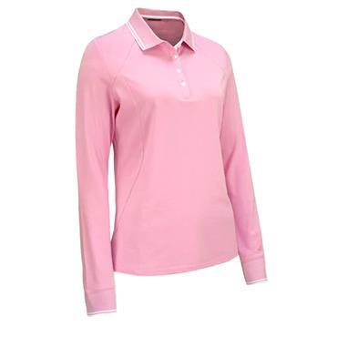 Callaway Ladies Long Sleeve Polo Shirt With Ribbing Lilac