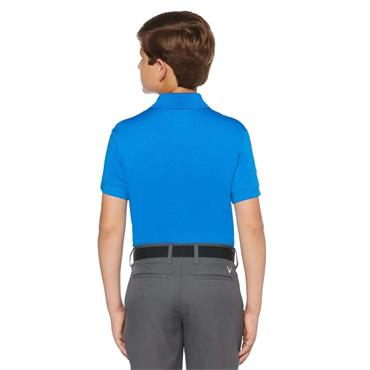 Callaway Junior - Boys Micro Hex Polo Shirt Electric Blue