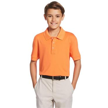 Callaway Junior - Boys Micro Hex Polo Shirt Firecracker
