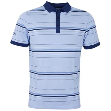 Callaway Gents Euro 3 Colour Stripe Polo Shirt Blue