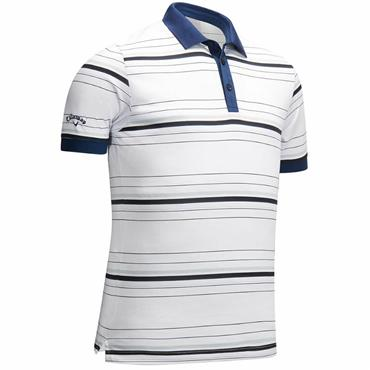 Callaway Gents Euro 3 Colour Stripe Polo Shirt White