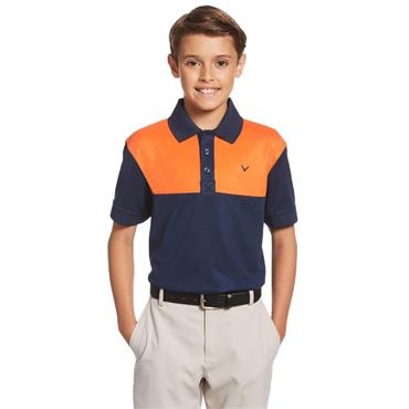 Callaway Junior - Boys Colour Block Polo Shirt Dress Blue