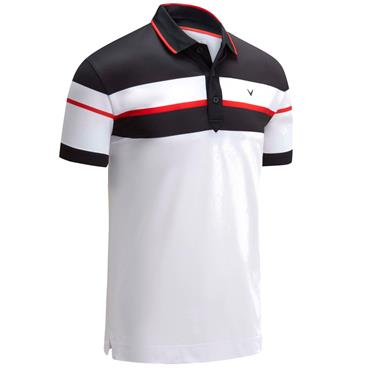 Callaway Gents Chest Black Polo White 100