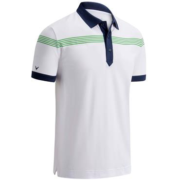 Callaway Gents Linear Print Polo White