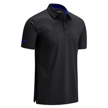 Callaway Gents All Over Chev Polo Shirt Caviar - Amparo Blue