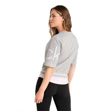Calvin Klein Golf Ladies Chill Cropped Sweat Top Grey Marl
