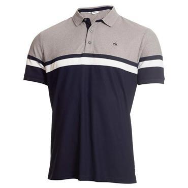 Calvin Klein Golf Gents Pendant Polo Shirt Navy - Grey