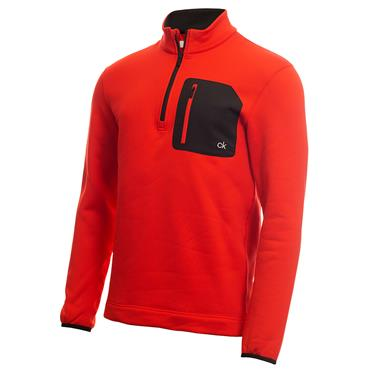 Calvin Klein Golf Gents Pinnacle ½ Zip Top Cayenne