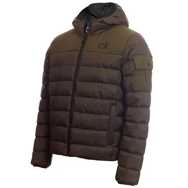 Calvin Klein Golf Gents Lassen Padded Jacket Olive Green