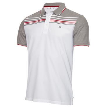 Calvin Klein Golf Gents Nelson Polo Shirt White Grey Marl