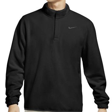 Nike Gents 1/2 Zip Therma Top Black