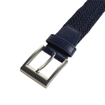 adidas Gents Braided Stretch Belt Collegiate Navy