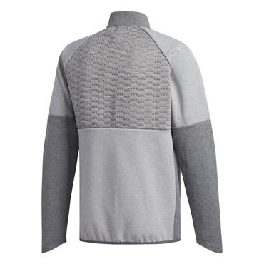 adidas Gents Frostguard Quilted 1/2 Zip Competition Jacket Grey - Heather