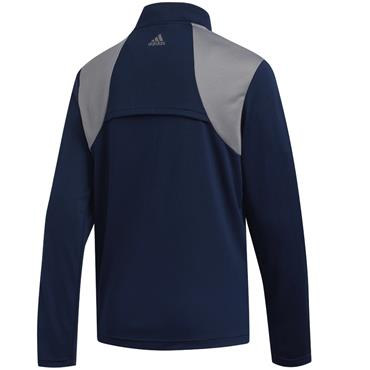 adidas Boys 3 Stripe 1/2 Zip Top Navy