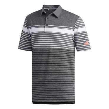 adidas Gents Ultimate365 Engineered Heather Polo Shirt White - Black