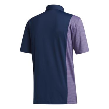 adidas Gents Ultimate365 Blocked Print Polo Shirt Navy - Purple