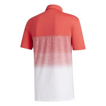 adidas Gents Ultimate365 1.1 Print Polo Shirt Coral - White