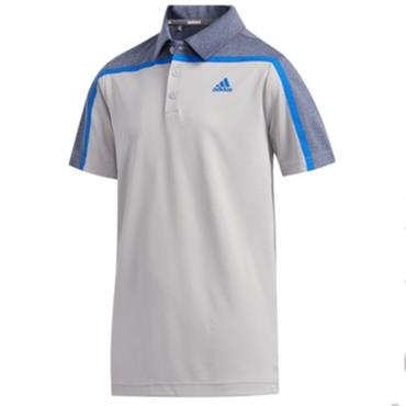 adidas Boys Heather Block Polo Grey