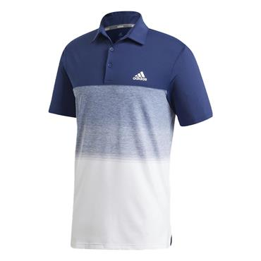 adidas Gents Ultimate365 Printed Polo Shirt Dark Blue - White