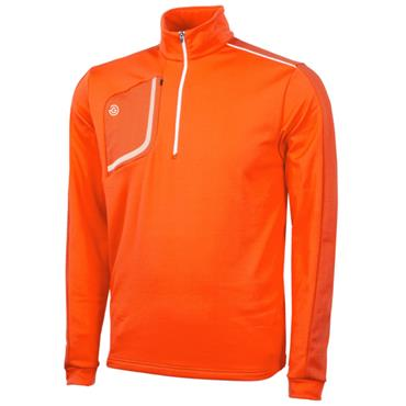 Galvin Green Gents Dwight Half Zip Insula Red Orange - White