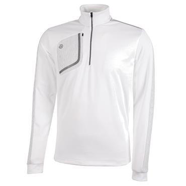 Galvin Green Gents Dwight Half Zip Insula White - Sharkskin