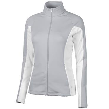 Galvin Green Ladies Davina Zip Insula Sweater Grey - White