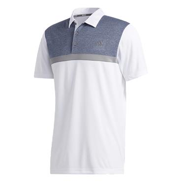 adidas Gents Colorblock Novelty Polo White - Navy