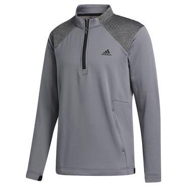 adidas Gents Cold ¼ Zip Top Grey Three