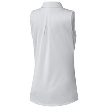 adidas Ladies Ultimate365 Solid Sleeveless Polo Shirt White