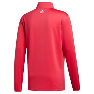 adidas Gents 3-Stripe Midweight Layering Top Power Pink - White
