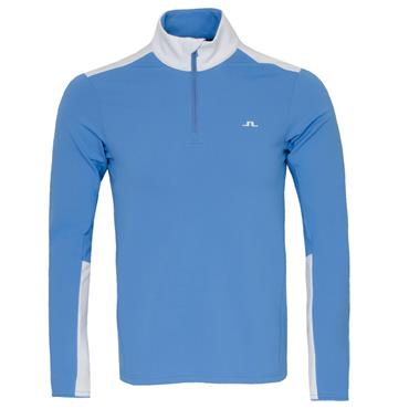 J.Lindeberg Gents Garry Mid Layer Top Ocean Blue