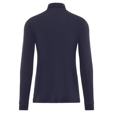 J.Lindeberg Gents Ethan Slim Fit Long Sleeve Polo Shirt Navy