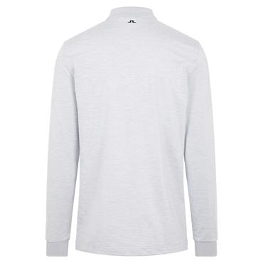 J.Lindeberg Gents Bridge Regular Fit Long Sleeve Polo Shirt Grey Melange