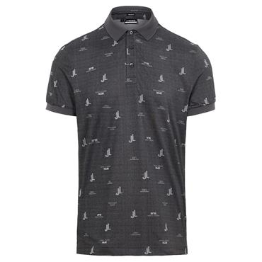 J.Lindeberg Gents Glen Regular Fit Polo Shirt Dark Grey