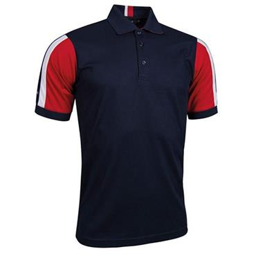 Glenmuir Gents Doune Stripe Panel Pique Polo Shirt Navy