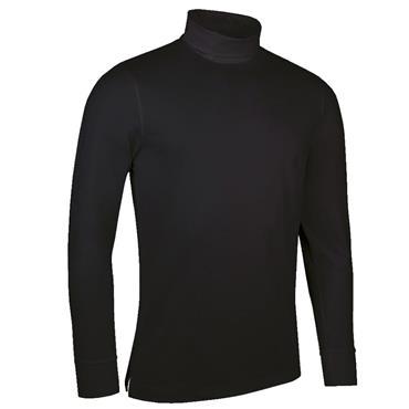 Glenmuir Gents Fraser Roll Neck Golf Shirt Black