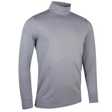 Glenmuir Gents Fraser Roll Neck Golf Shirt Grey Marl