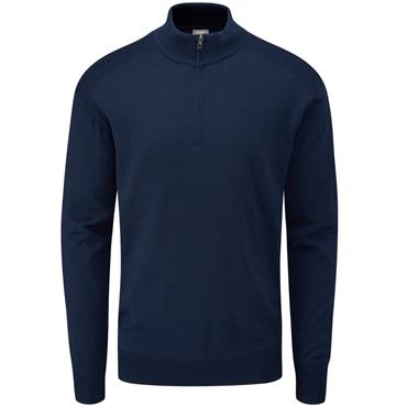 Ping Gents Couper Lined Zip Sweater Oxford Blue
