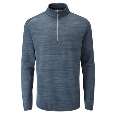 Ping Gents Edison 1/2 Zip Top Oxford Blue Marl